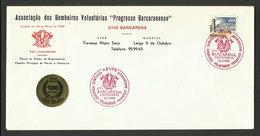 Portugal Cachet Commémoratif Sapeurs-Pompiers Barcarena 1980 Event Postmark Firefighters