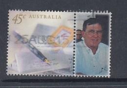 Australia P Stamp FU -  Letters & Pen