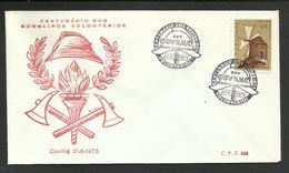 Portugal Cachet Commémoratif Sapeurs-Pompiers Covilhã 1975 Event Postmark Firefighters