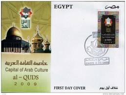 EGYPT / 2009 / CAPITAL OF ARAB CULTURE / ALQUDS ; JERUSALEM ; PALESTINE / FDC / VF/ 3 SCANS .