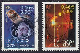 FRANCE Francia Frankreich - 2001 - 2 Valori Usati: Yvert 3424 E 3425