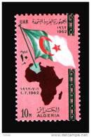 EGYPT / 1962 / ALGERIA / FLAG / MAP / MNH / VF