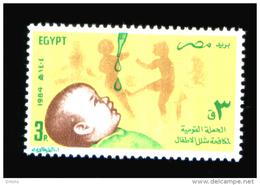 EGYPT / 1984 / MEDICINE / POLIOMYELITIS / WORLD HEALTH DAY / FIGHT AGAINST POLIO / SABIN  VACCINE / MNH / VF