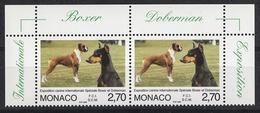 MONACO 1998 - PAIRE BORD DE FEUILLE / N° 2148 - NEUFS** G55