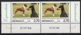 MONACO 1998 - PAIRE BORD DE FEUILLE / DATE / N° 2148 - NEUFS** G55