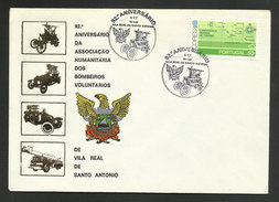Portugal Cachet Commémoratif Sapeurs-Pompiers Vila Real De Santo Antonio 1982 Event Postmark Firefighters