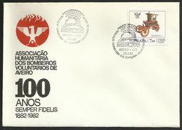 Portugal Cachet Commémoratif Sapeurs-Pompiers Aveiro 1982 Event Postmark Firefighters