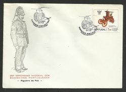Portugal Cachet Commémoratif Sapeurs-Pompiers Figueira Da Foz 1982 Event Postmark Firefighters