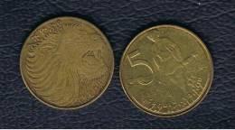 ETIOPIA / ETHIOPIA  -  5 Cent 1977   KM44 - Etiopía
