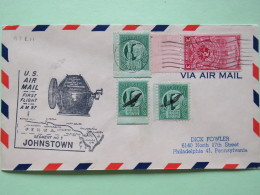 USA 1949 First Flight Cover Johnstown (Philadelphia Back Cancel) To Philadelphia - Machine - Freedom Of Speech - Sport D - United States