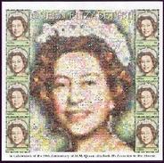 MINT NEVER HINGED SHEETLET OF QUEEN  ELIZABETH II ; PHOTOMOSAIC   (  GAMBIA  2465 **
