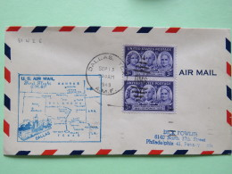 USA 1949 First Flight Cover Dallas (Oklahoma City Back Cancel) To Philadelphia - Map - Women - Stanton - Catt - Mott - United States