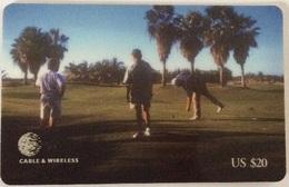 Turks & Caicos - Prepaid C&W, Golf Field, 20$ US, Used