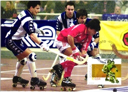 HOQUEI EM PATINS HOCKEY SKATING BENFICA X FUTEBOL CLUBE DO PORTO PORTUGAL CARTE MAXIMUM - MAXICARD (2 SCANS)