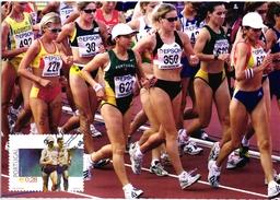 SPORTS RACEWALKER ATHLETICS SUSANA FEITOR IN EDMONTON CANADA MARCHA PORTUGAL CARTE MAXIMUM - MAXICARD (2 SCANS)