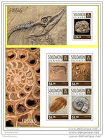 SOLOMON ISLAND 2014 ** 2 S/S Fossils Fosslilien Fossiles A1507