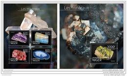 NIGER 2014 ** 2 S/S Minerals Mineralien Mineraux A1504