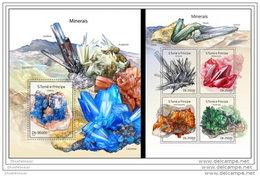 SAO TOME 2014 ** M/S + S/S Minerals Mineralien Mineraux Minerales A1439