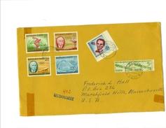 1960 ROME OLYMPICS: HAITI Sc#447, B18-B19, CB28-CB29, RA25 Pair Regd Cover To USA