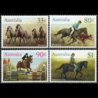 AUSTRALIA 1986 - Scott# 984-7 Horses Set Of 4 MNH