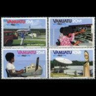 VANUATU 1983 - Scott# 360-3 Communication Year Set Of 4 MNH