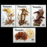 VANUATU 1984 - Scott# 364-7 Mushrooms Set Of 4 MNH