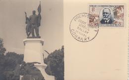 Carte  Maximum  1er   Jour   AFRIQUE  OCCIDENTALE  FRANCAISE   Gouverneur   Général   BALLAY   1954