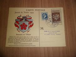 France Carte Maximum  Journée Du Timbre Lyon Le 09/12/1944 Avec Les N° 668 Et 639 Soldé à Moins De 20% TB ! ! ! - Maximum Cards