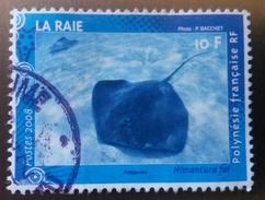 ♥ Polynésie YT  N° 824 -  Faune Marine La Raie - 2008 - Oblitéré - Polynésie Française