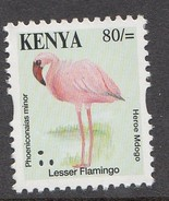 Kenya 2013  Bird Reprints 80/- Flamingo Single Out Of Set (much Cheaper Than Buying Set)