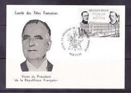 BELGIQUE, COB 1576 Sur CARTE SOUVENIR, VISITE DU PRESIDENT DE LA REPUBLIQUE FRANCAISE. (6AL 281)