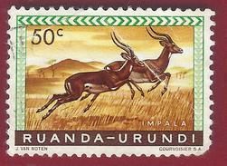 1959 - Impala (Aepyceros Melampus) - Yt:RW-U 208 - Used - Ruanda