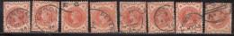 ½d Half Penny, Great Britain Used 1887 Jubillee Series, 8 Diff., Postmark, Postmarks,