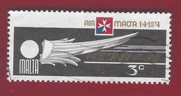"1974 - ""Air Malta"" Emblem - Yt:MT PA6 - Used - Malta"