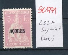 Potugal Azoren  Nr.  233   *   (se1771  ) Siehe Bild !