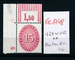 D.-Reich Nr.  D 124 WOP   **    (se1748  ) Siehe Bild !
