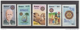 1994 Kenya Rotary Polio Vaccine Complete Set Of 5 MNH