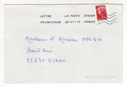 Enveloppe Oblitération LA POSTE 37668A 26/01/2010