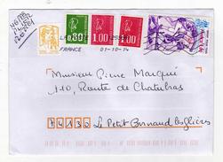 Enveloppe Oblitération LA POSTE 12599A 01/10/2014