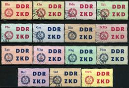 A11-15-5) DDR - ZKD Michel 1 / 15 - OO Gestempelt (A) - Laufkontrollzettel 1963