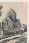 02 (Aisne) DROIZY  , église , Calèche , Enfants   Timbrée 1912