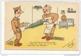 13085 LUC CYL Humour Militaire PC Paris M-27 Relations Utiles Recu Intérieurs ; Clystere Anus Malade