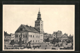 CPA Landskron, Stadtplatz Avec Hôtel De Ville - Tchéquie