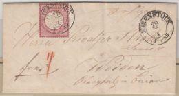 DR/Sachsen - Eibenstock 1873, K2 A. 1 Gr. Gr. Brustschild, Brief N. Weiden
