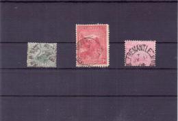 3 Alte Briefmarken  AUSTRALIEN / Western Und Tasmanien / Ansehen