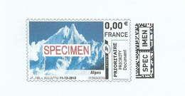 Montimbrenligne - Affranchissement Par Internet - Test D´impression - Specimen - Montagne