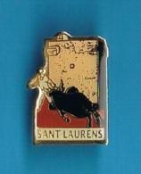 1 PIN'S  //   ** SANT LAURENS ** - Bullfight - Corrida