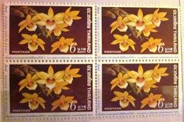 Bloc De 4 - Fleurs - Dendrobium Senile - Thaïlande