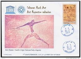 ALGERIE ALGERIA 2013 - FDC - Tassili N´Ajjer National Park Unesco World Heritage Patrimoine Sahara