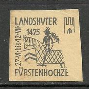 Deutschland Alte Reklamemarke Ca 1875 Vignette Landshuter Fürstenhochzeit Ritter